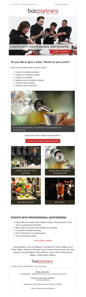 Exemple de Newsletter avec une vidéo