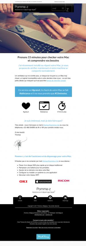 Exemple de newsletter pour un Hotel