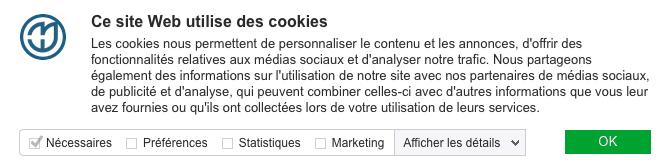 Gestion des cookies pour la réglementation RGPD