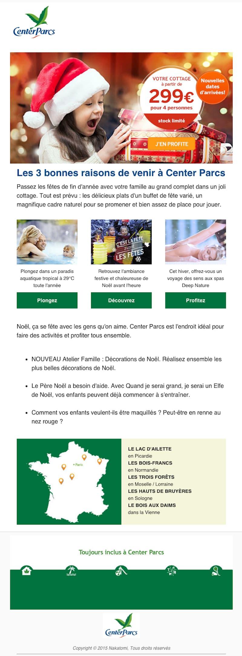 Exemple de newsletter pour une agence de voyage