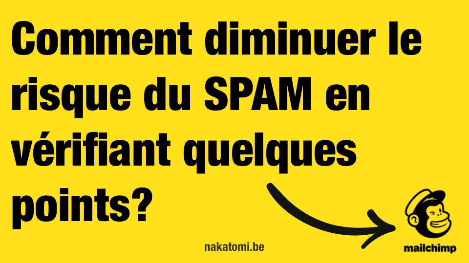 Comment diminuer le risque Diu SPAM avec sa newsletter?