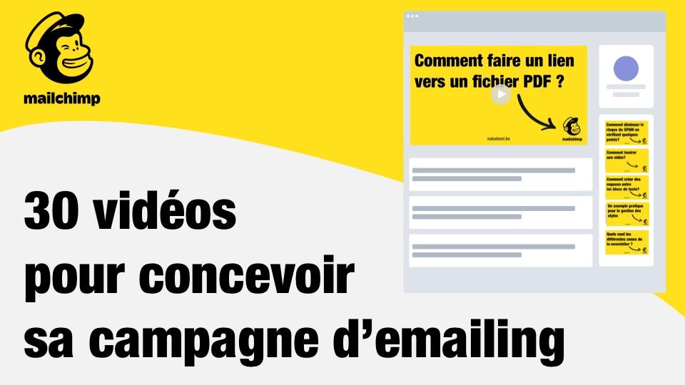 Formation Mailchimp à distance en 30 vidéos