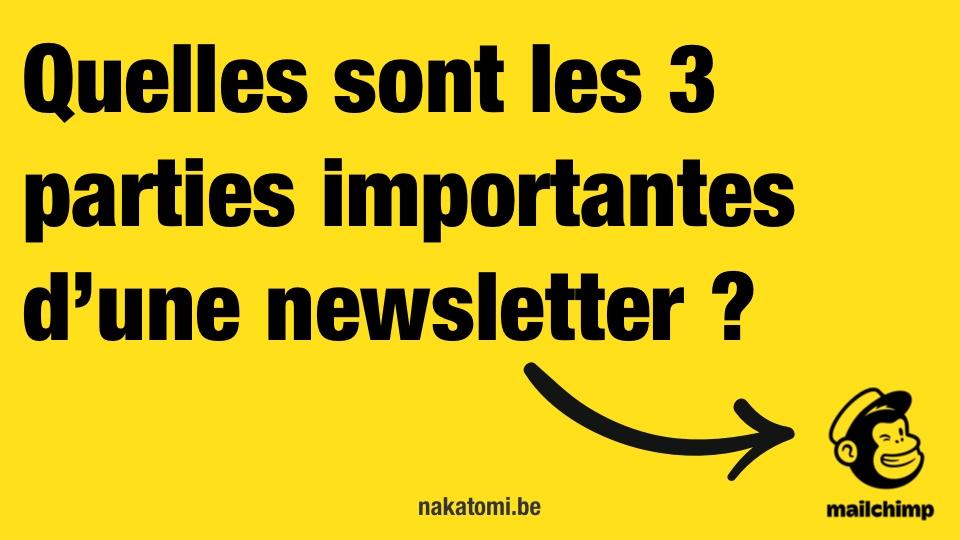 Quelles sont les parties importantes dans une newsletter?