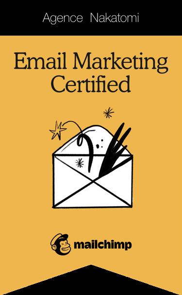 Certification email marketing Mailchimp